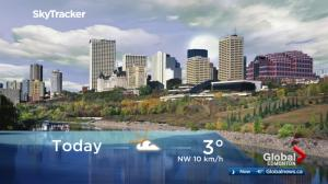 Edmonton early morning weather forecast: Friday, October 13, 2017